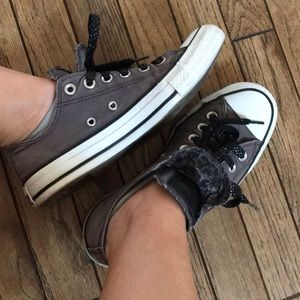 Converse Double Tongue Gray All Star Sneakers